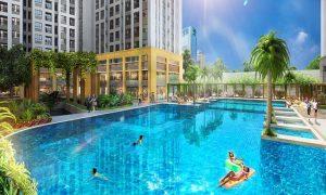 hồ bơi căn hộ mini S-Home Phan Huy Ích